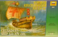 Zvezda 1/72 Crusader Sailing Ship 12th to 14th Century Model kit 9024