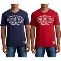 True Religion Men's Collegiate Buddha Graphic V-Neck Tee T-Shirt