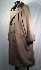 London Fog Coat Trench Remove Lining Double Breasted Leather Collar 44 S