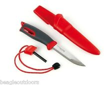 NEW Light My Fire Swedish FireKnife Red FireSteel Scout Sheath Knife