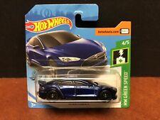 Hot Wheels 2019 Super Treasure Hunt Tesla Model S Short Card EM5488