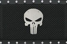 Stainless Steel PUNISHER Grille Badge fits Raptor F150 Jeep Tundra Tacoma Chevy