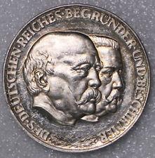 MEDAILLE Ø 35mm DES DEUTSCHEN REICHES BEGRÜNDER + BESCHIRMER BISMARCK HINDENBURG