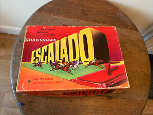 Vintage Chad Valley Escalado racing game from the 1950 's