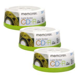 Memorex Light Scribe CD-R Blank Media 60 pk - Laser Etch Prints Direct To Disc
