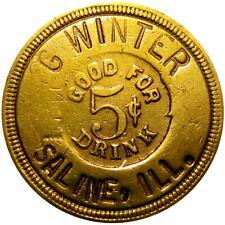 1894 Saline Illinois Good For Token G Winter Rare Unlisted Town