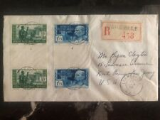 1938 Libreville French Africa Congo Registered Cover To New York USA