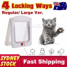 Pet Dog Cat Door Access Lockable Flap Puppy 4 Way Lock Home Frame Safe Secure AU