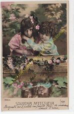 CPA Old Postcard - Enfant - Child - Kinder - Niño TINTED 1911 Edition FOX 1553 A