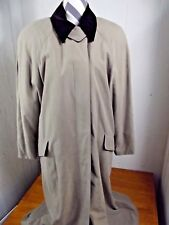 Anne Klein 2 Trench Coat Womens sz 10 Tan Long Winter Overcoat Removable Liner