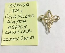 Vintage 1910s Gold Filled Watch Brooch Lavalier 22mm By 26mm