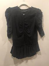 Isabel Marant Black Silk Blouse, Small