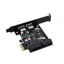 2 Ports USB 3.0 5Gbps Expansion PCI-E Express Card NEC Chipset with 20 Pin Port