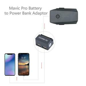 Battery to Power Bank Adaptor Two 5V/2A USB Ports Accessories for DJI Mavic Pro