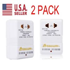 2 PACK 110V to 220V Step-Up & Down Voltage Converter Transformer Travel 70W USA