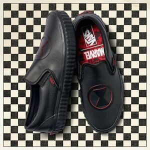 Vans Off the Wall Classic Slip On Marvel Black Widow Shoes Mens 4 Womens 5.5