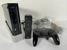 Nintendo Wii System Black Console Controller Joystick Clean Free Fast Shipping