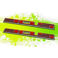 X2 Chrome Red SBC 305 5.0 Metal Bumper Trunk Grill Emblem Decal Sticker Badge