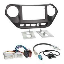 Hyundai i10 Typ IA ab 13 2-DIN Autoradio Einbauset+Kabel,Adapter,Radioblende