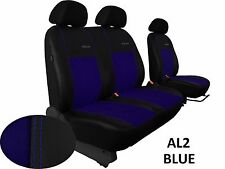 FORD TRANSIT CUSTOM VAN FROM 2013 ECO LEATHER ALCANTRA SEAT COVERS TAILORED