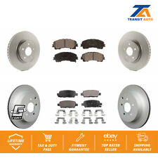 Front Rear Coated Disc Brake Rotors And Ceramic Pads Kit For Infiniti Q50 Q60