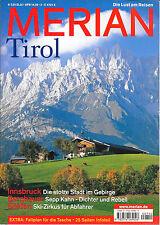 Merian Tirol Februar 2004/ Heft 2/ 57. Jahrgang Faltplan Sepp Kahn Ski-Zirkus