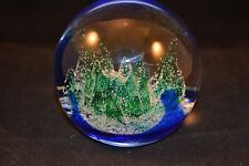 "Art Glass Paperweight Caithness Scotland ""Ice Forest"" Limited Edition 606 of 750"
