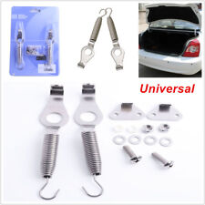 "2PCS Universal Racing Spring Car Trunk Hood Kit Steel Hook Lock Hinge 5.2"" Valid"