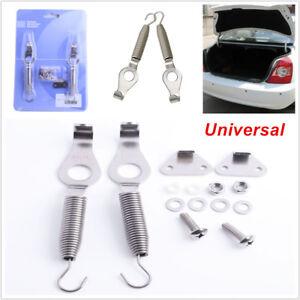 """2PCS Universal Racing Spring Car Trunk Hood Kit Steel Hook Lock Hinge 5.2"""" Valid"""