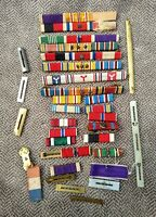 Military Huge Lot Army Bars / Ribbons Misc Vintage US Army ++
