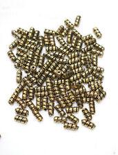 Beads Gold Ridged Tube Beads 8mm
