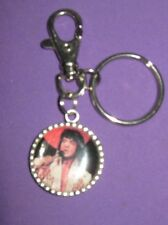 """ LAS VEGAS ELVIS ""-KEY RING-HAND MADE-DOUBLE SIDED"