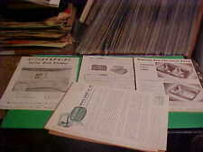 EAMES EARLY 1950'S CABINET DEALER SWEETS CATALOG BROCHURES PAPER LOT 70 PAGES