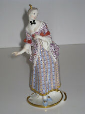 Nymphenburg Porcelain Figurine Commedia Dell' Arte Lucinda Bustelli 1900 !