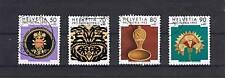 4 Francobolli Svizzera Pro Patria 1992 usati