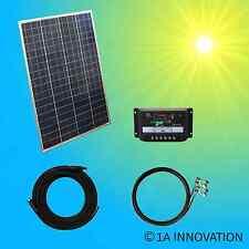 100W Poly Komplett Set 12V Solaranlage Solarmodul Garten Camping Laderegler Watt