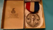 Sports medal vintage 1949 weight lifting sterling silver Ny Aau Dieges & Clust