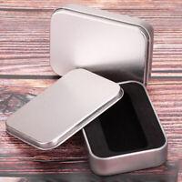 KE_ Silver Metal Storage Cigarette Cigar Lighter Holder Pocket Tobacco Storage