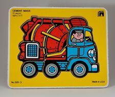 Vintage Sandberg Cement Mixer Puzzle 520-3 10 Pieces