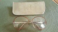 Vintage 1970-80s FW Maureen Sterling Optical Eye Glasses Rose Frames Large Round