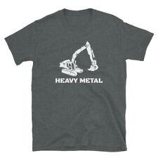 Heavy Metal Digger Funny Cute Backhoe Bulldozer White T-shirt