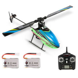 WLtoys V911S 4CH 6G Non-Aileron RC Helicopter With Gyroscope W/ 2 Batteries J6H2