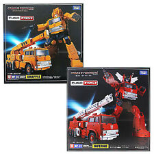 100% Takara Tomy Transformers G1 Masterpiece MP-35 Grapple & MP-33 Inferno Pack