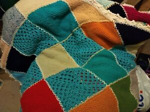 Hand Knitted Very Large Throw