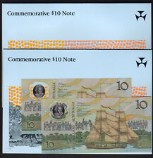 1988 Bi-Centennial 10 Dollars. With Overprint.. CONSECUTIVE Pair In NPA Folder