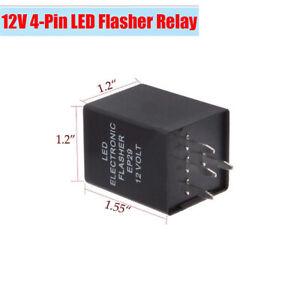 12V 4-pin EP29 LED Electronic Flasher Relay Fix Car Turn Signal Blinker Lights