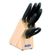 Taco de 5 cuchillos y tijera  Arcos Niza 136100 de 6 piezas de acero inoxidable