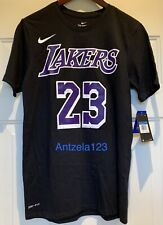 BNWT Nike Lebron James #23 NBA Los Angeles Lakers Oscuro icono Dri-Fit T-shirt M