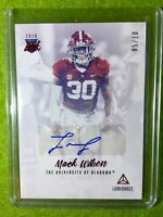 MACK WILSON AUTO Baker Mayfield 's LB ROOKIE CARD /10 ALABAMA RED 2019 BROWNS SP