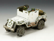 """KING & COUNTRY BBA050 WWII """"U.S. ARMORED JEEP"""" ( WINTER VERSION)) MIB!"""